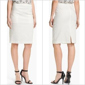 Theory 'Clea' Pencil Skirt in white